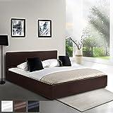 MIADOMODO Kunstlederbett 140x200cm mit integriertem Lattenrost und Bettkasten in 3