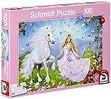 Schmidt Spiele 55565 - Puzzle de 100 Piezas diseño Princesa de los Unicornios
