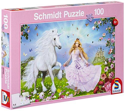Schmidt Spiele 55565 - Prinzessin der Einhörner, 100 Teile Puzzle