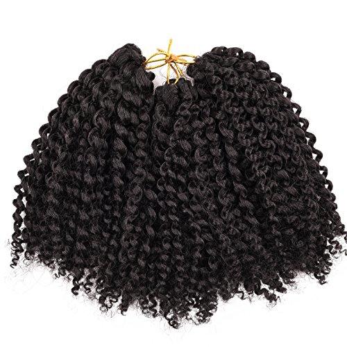 Silike (#2) marlybob kinky curl (3 pacchi/confezione) 20,3 cm estensione onda crochet trecce capelli ricci