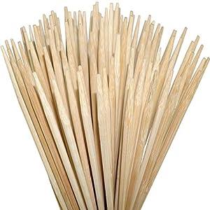 ORANGE DEAL 100 extra Lange Lagerfeuer-Spieße aus reinem Qualitäts-Bambus für Stockbrot, Marshmallows, Bratwurst UVM. | 90cm | auch für Feuerschalen | sehr stabil | ohne Splitter | lebensmittelecht