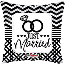 Globo Just Married - Cuadrado 45cm Foil Poliamida - K1973718