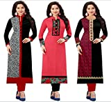 #9: Platinum Women's Cotton Dress Material (PLT 151702_Free Size_Multicolored)