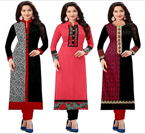 Platinum Women's Cotton Dress Material (PLT 151702_Free Size_Multicolored)