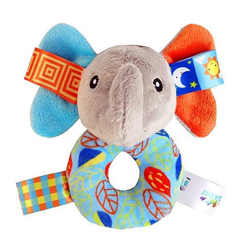 -Elefant Rattles Ring Plüschtiere Handbell Schnappen weiche Kuschel-Geklapper für Kleinkind ()