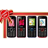 I KALL 1.8 Inch Display Dual Sim Mobile Combo Power Pack Of FOUR Multimedia Mobile- K55 White+K20 Red+ K66 Blue+ K11 Red