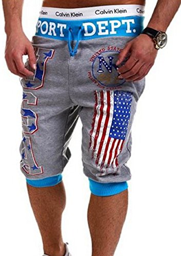 Men's USA American Flag Printed Homme Casual Shorts 1