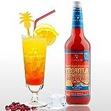 Tequila Sunrise 28% Vol. - PreMix für 17 alkoholische Cocktails – Flasche 0,7 l mit allen Zutaten - Einfach mit Orangensaft & Eis mixen, fertig