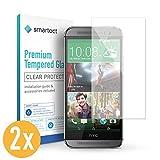 smartect HTC One M8 / M8s Panzerglas Folie [2 Stück] - Displayschutz mit 9H Härte - Blasenfreie Schutzfolie - Anti Fingerprint Panzerglasfolie