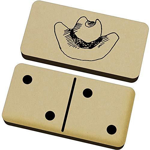 Azeeda 'Cowboy-Hut' Domino-Spiel und Box (DM00021887) Designer-hut-boxen