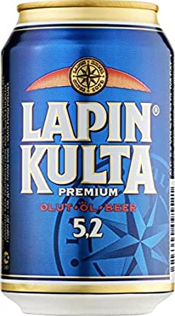 Lapin Kulta Finnland Bier 5,2 %25Alc.24 Dosen inkl. Pfand Das Original