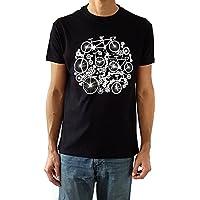 Camiseta de hombre Bicicletas - Color Negro - Talla S - Regalo para hombre - Cumpleanos o Navidad