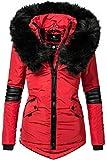 Navahoo Damen Winter Jacke Steppjacke Nirvana (vegan hergestellt) Rot Gr. L