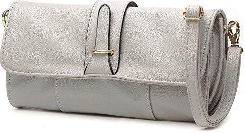MASQUENADA, borsa da donna, Borsetta, Pochette, Borsa a tracolla, 24 x 13 x 4,5 cm grigio luminoso