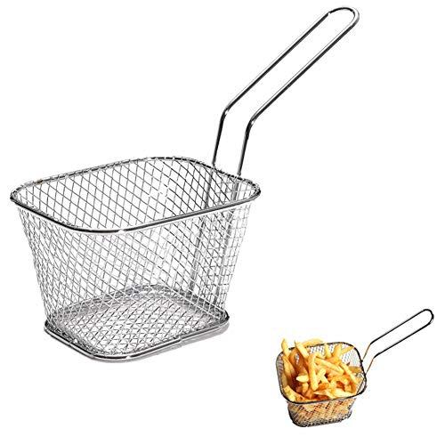 SISHUINIANHUA Portátil de Acero Inoxidable Chips Mini Canasta freidora freidora colador de Cocina Cooking Chef Cesta colador Herramienta Patatas Fritas Cesta