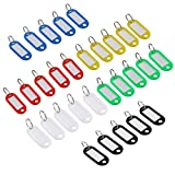 NUOLUX 30pcs Key Tag with Label Window (Random Color)