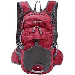 ENKNIGHT 20L Impermeable Mochila de Senderismo Paquete del Alpinismo ligero plegable resistente al agua mochila de viaje Escalada Marcha camping ciclismo Deporte Al Aire Libre rojo