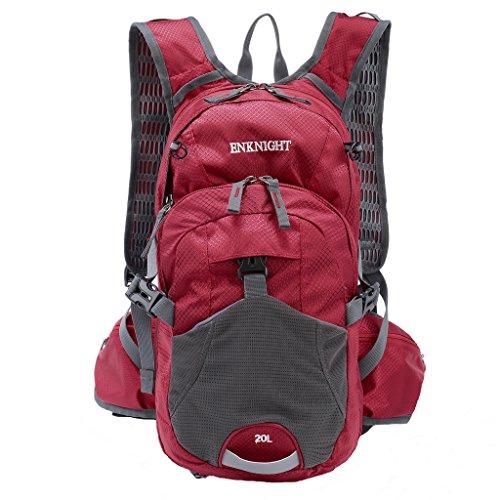 Imagen de enknight 20l impermeable  de senderismo paquete del alpinismo ligero plegable resistente al agua  de viaje escalada marcha camping ciclismo deporte al aire libre rojo