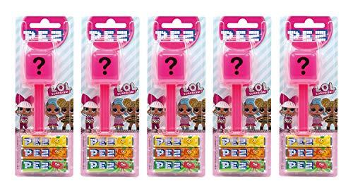 PEZ Spender Set LOL Surprise (5 Spender mit je 3 PEZ Bonbons á 8,5g) + 1 Nachfüllpack (8 PEZ Bonbons á 8,5g)