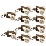 Sharplace 10Stk./Set Gardinengleiter Vorhangschiene Gleiter Gardinenhaken Aufhänger für Vorhänge, Gardine, Schabracke - Stil 3 20mm
