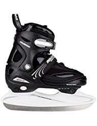 Nijdam Eishockeyschlittschuhe Icehockey Skate - Patines de hockey sobre hielo, color Negro, talla 34-37