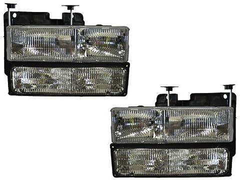 CHEVY/GMC TRUCK OEM STYLE HEADLIGHTS HEADLAMPS 4PC SET PAIR NEW by Headlights Depot
