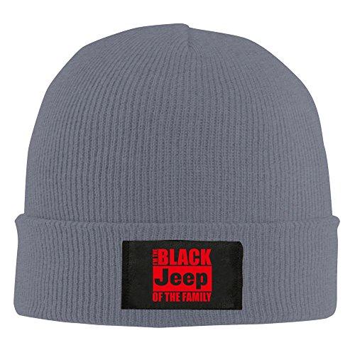 Hombres Mujeres El Negro Jeep de la familia blanco rojo Knit Cuff Beanie sombrero gorra invierno -  Gris -