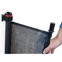 UPP Rejilla extensible y universal hasta 140 cm para rejilla de escaleras, rejilla de protección para puertas, niños, perros, estor de protección o para escaleras, pared separadora, Negro