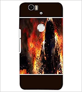 PrintDhaba Invisible Man D-1281 Back Case Cover for HUAWEI NEXUS 6P (Multi-Coloured)