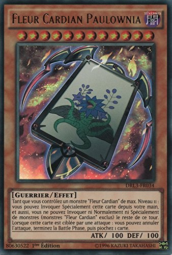 "Carte Yu-Gi-Oh! ""Fleur Cardian Paulownia"" DRL3-FR034 - VF/ULTRA RARE"
