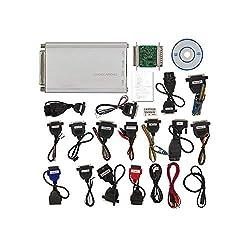 HTSHOP Professioneller ECU-Programmierer, vollständiger Satz mit Allen 21 Elementen, Adapter, Universalwerkzeug zur Reparatur von Dashboards, Wegfahrsperren, Mikrocontroller-Programmierung
