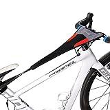 ROCKBROS Cubierta de Sudor para Entrenamiento de Bicicleta Impermeable Elástica Absorber el Sudor para Rodillos Ciclismo Dos Tipos Adecuada para Telefonos Móviles 6.0 Negro Rojo
