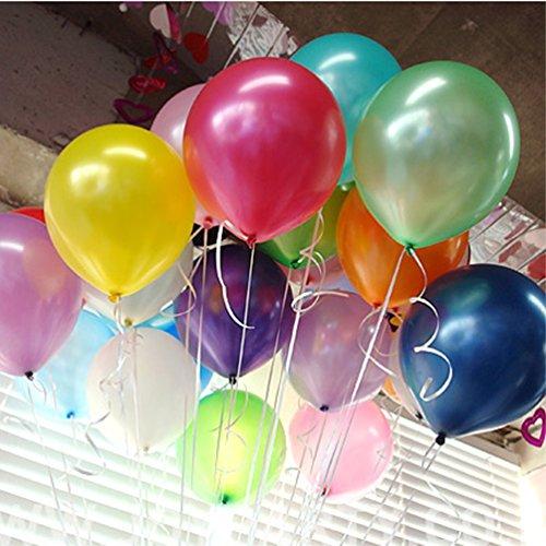 100pcs / lot Latex Ballon Farbe sortierte 10 Inch1.8g verdickte Perlen-Ballone für Hochzeits Geburtstagsfeier (Partei Piraten Dekoration)