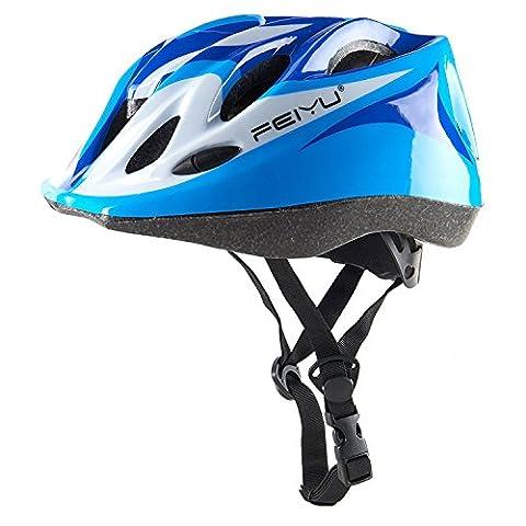 Babimax Casque Enfants Vélo Intégral des Enfants équitation Cycliste Roller Alphiniste Casque de Sécurité de Sport Respirant Réglable Confortable Casque pour Draisienne(Bleu)