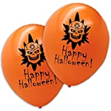 20 X Halloween Luftballons Totenkopf Orange