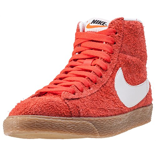 NIKE Blazer Mid Vintage, Damen Durchgängies Plateau Sandalen mit Keilabsatz, orange - Orange, Weiß - Größe: 36 EU