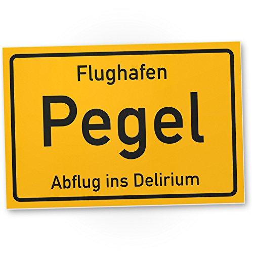 Flughafen Pegel – Schild (30 x 20 cm), Lustige Geschenkidee ...