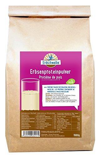 Erdschwalbe Erbsenprotein / 85% Proteingehalt / Vegan und glutenfreies Eiweißpulver / 1 Kg (Paleo Diät-protein-pulver)