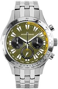 Jacques Lemans Herren-Armbanduhr XL Capri Chronograph Quarz Edelstahl 1-1329F