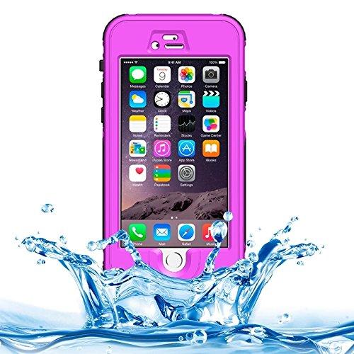 Phone case & Hülle Für IPhone 6 / 6S, ABS Material wasserdichter Schutzhülle mit Knopf u. Fingerabdruck Unlock & Touch Screen Funktion ( Color : Yellow ) Purple