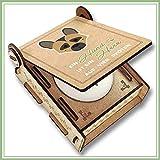 CANDLE in the BOX Trauerkerze Hund mit Spruch   Personalisierte Gedenkkerze mit Foto und mit Namen   Gedenklicht Hund für Zuhause mit Gravur