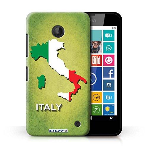 Kobalt® Imprimé Etui / Coque pour Nokia Lumia 635 / Lituanie/Lituanien conception / Série Drapeau Pays Italie/Italien