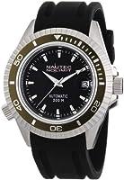 Nautec No Limit Shore - Reloj analógico de caballero automático con correa de goma negra de Nautec No Limit