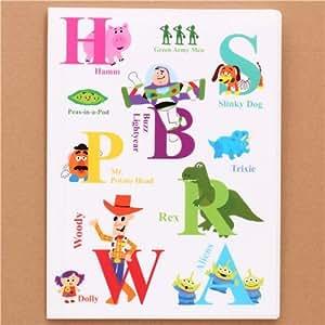 white Toy Story letters ABC 10-pocket A4 /A3 file folder