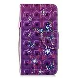 NEXCURIO [Huawei P10 Lite] Hülle Leder, Handyhülle Tasche Leder Flip Case Brieftasche Etui mit Kartenfach Stoßfest Kratzfest Schutzhülle für Huawei P10Lite - NEHEX16733#1