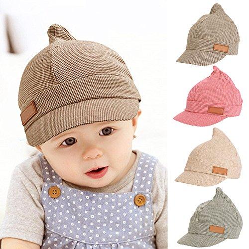 LianLe Mütze Kinder Baskenmütze Baby Kapppe Hüte in Winter Herbst /0-2Jahre(Coffee)