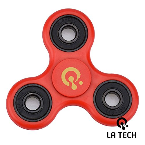 Fidget Spinner Toy Stress Reducer Perfect For ADD ADHD Anxiety and Autism Adult Children (Red)