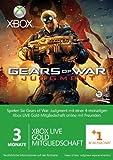 Xbox Live - Gold-Mitgliedschaft 3 + 1 Monate - im Design von Gears of War: Judgment