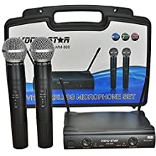Vocal-Star WM-880 2 VHF Wireless Microphone Set & Cary Case