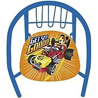 Arditex WD11624 - Silla de metal, diseño Mickey Mouse Roadster Racers